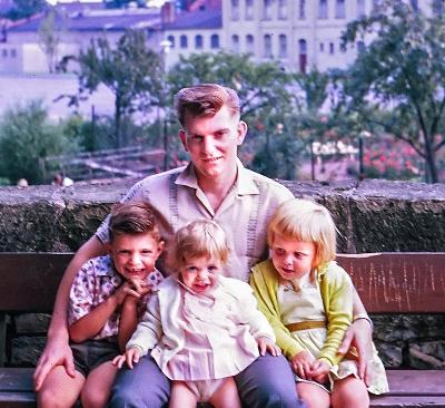 Germany 61-62 with children (left to right) Rick, Nicole, Michele